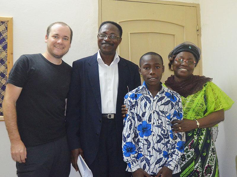 Der persönliche Kontakt kann bis zu einem Treffen mit dem Patenkind in Togo reichen!