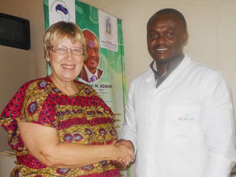 Margret Kopp und Dr. Michel Kodom