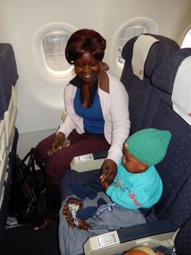 Nata auf dem Flug nach Hause