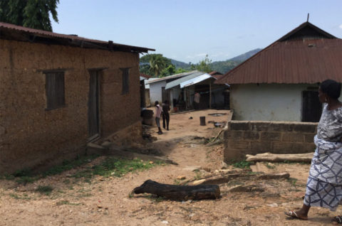 Das Dorf Kouma-Apoti in Togo, Afrika