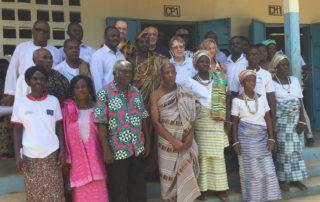 Empfang im Dorf Kouma Apoti 2016 in Togo, Afrika