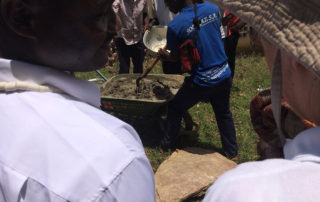 Grundsteinlegung der Schulkantine in Kouma Apoti 2016