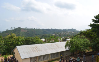 Blick auf das Dorf Kouma Apoti