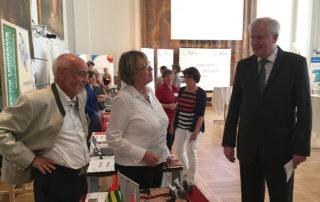 Mit Ministerpräsident Horst Seehofer