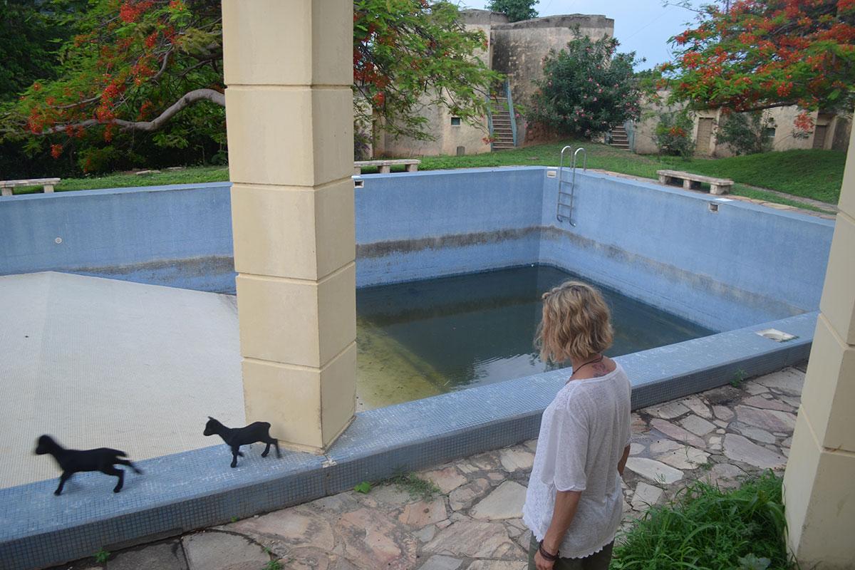 Es gab sogar einen Hotel-Pool
