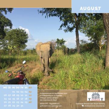 Das August-Blatt des Togo-Kalenders 2018