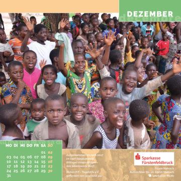 Das Dezember-Blatt des Togo-Kalenders 2018