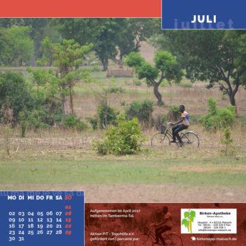 Das Juli-Blatt des Togo-Kalenders 2018