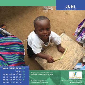 Das Juni-Blatt des Togo-Kalenders 2018