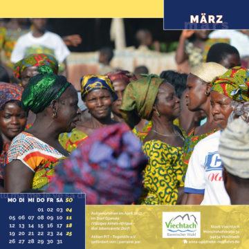 Das März-Blatt des Togo-Kalenders 2018