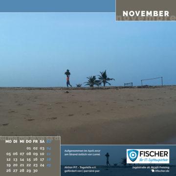 Das November-Blatt des Togo-Kalenders 2018