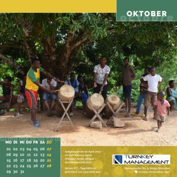 Das Oktober-Blatt des Togo-Kalenders 2018