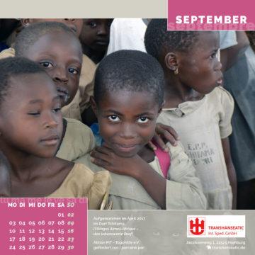 Das September-Blatt des Togo-Kalenders 2018