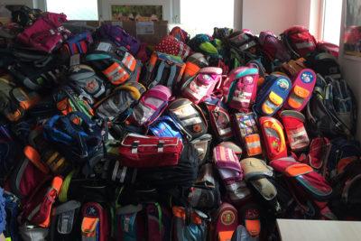 Etwa 400 Schultaschen wurden dieses Jahr für Togo gespendet.