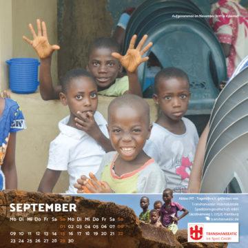 Das September-Blatt des Togo-Kalenders 2019