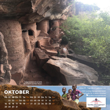 Das Oktober-Blatt des Togo-Kalenders 2019