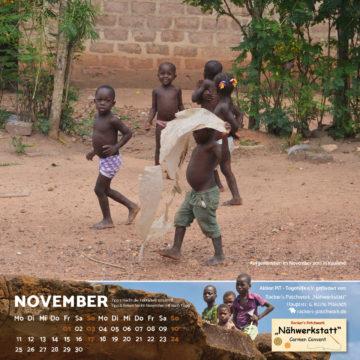Das November-Blatt des Togo-Kalenders 2019