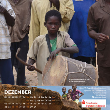 Das Dezember-Blatt des Togo-Kalenders 2019