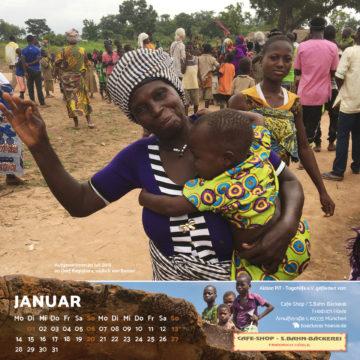 Das Januar-Blatt des Togo-Kalenders 2019