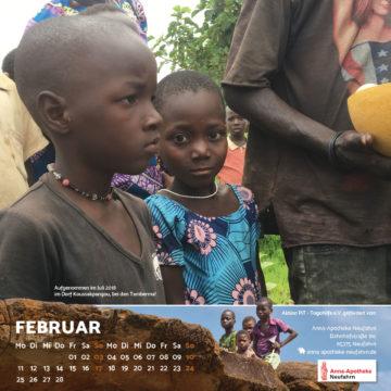 Das Februar-Blatt des Togo-Kalenders 2019