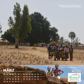 Das März-Blatt des Togo-Kalenders 2019