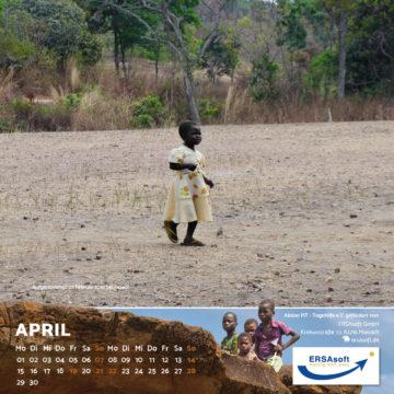 Das April-Blatt des Togo-Kalenders 2019