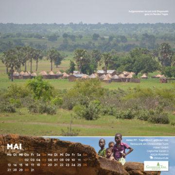 Das Mai-Blatt des Togo-Kalenders 2019