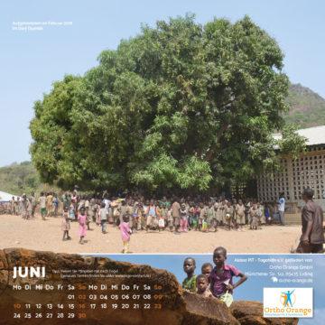 Das Juni-Blatt des Togo-Kalenders 2019