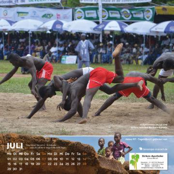 Das Juli-Blatt des Togo-Kalenders 2019