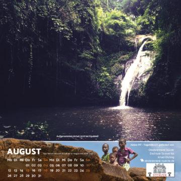 Das August-Blatt des Togo-Kalenders 2019