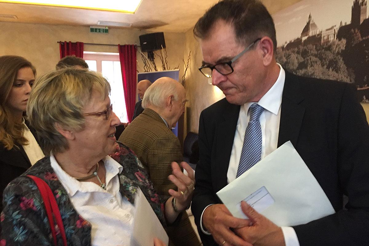 Margret Kopp mit Entwicklungshilfeminister Dr. Gerd Müller