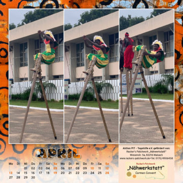 Togo-Kalender 2020, das Aprilblatt