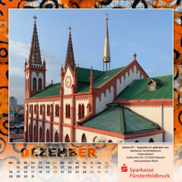 Togo-Kalender 2020, das Dezemberblatt