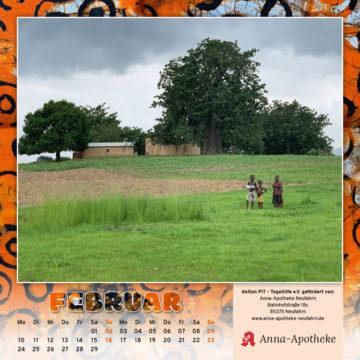 Togo-Kalender 2020, das Februarblatt