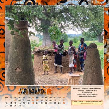 Togo-Kalender 2020, das Januarblatt