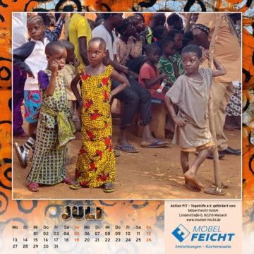 Togo-Kalender 2020, das Juliblatt