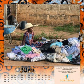 Togo-Kalender 2020, das Juniblatt