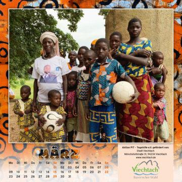 Togo-Kalender 2020, das Märzblatt