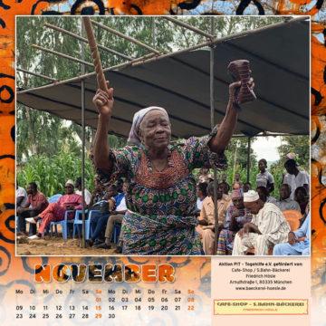 Togo-Kalender 2020, das Novemberblatt
