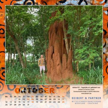 Togo-Kalender 2020, das Oktoberblatt