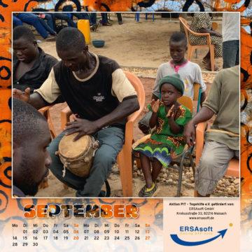 Togo-Kalender 2020, das Septemberblatt