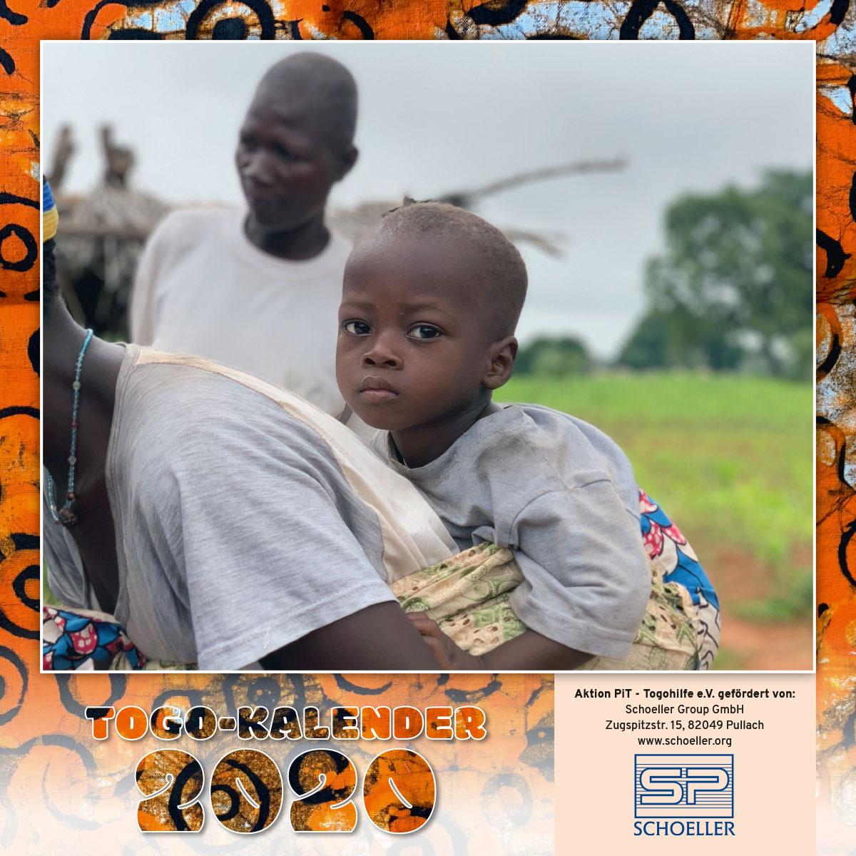 Togo-Kalender 2020, das Titelblatt