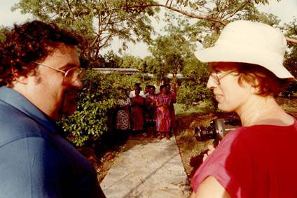 Gerhard Reichert mit Margret Kopp in Togo