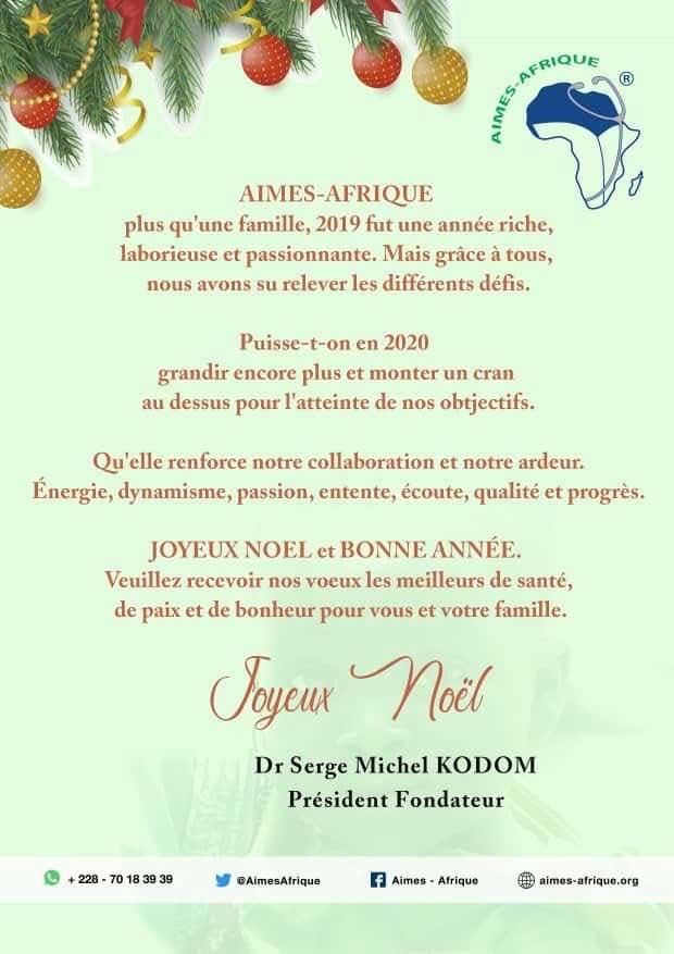 Neujahrsgrüße von Aimes-Afrique