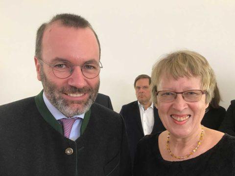 Manfred Weber (MdEP) mit Margret Kopp