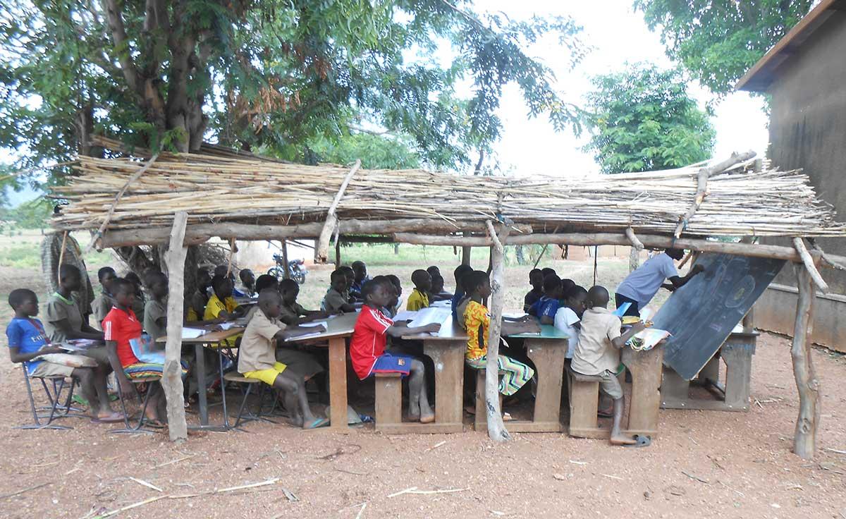 Derzeitige Schulsituation in Koutandiégou