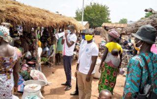 Aufklärung am Markt in Togo