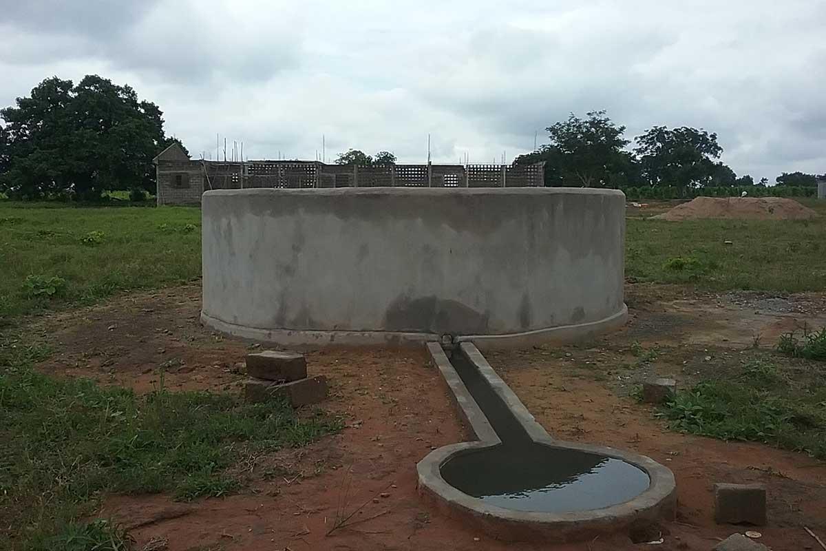 Bau des Brunnens