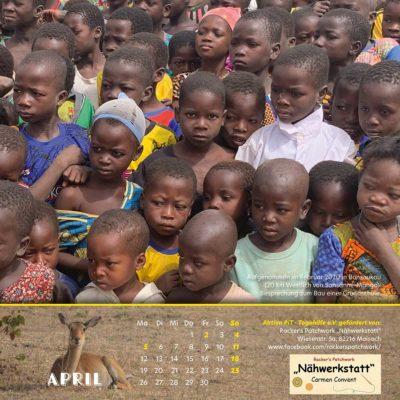 Togo-Kalender 2021 - April