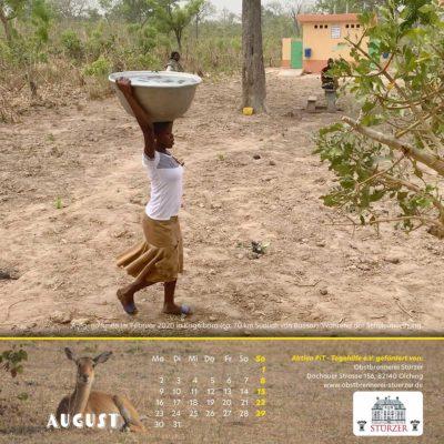 Togo-Kalender 2021 - August
